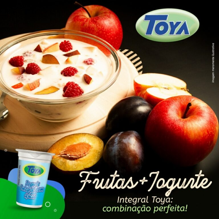 Frutas com Iogurte Integral Toya!